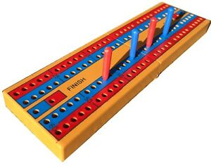 POKERCHIPSHOP CRIBBAGE BOARD AND PEGS -TRAVEL - CLEARANCE