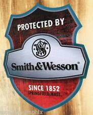 NEW > Smith & Wesson protected Oldschool Warnung Aufkleber Sticker Auto Motorrad