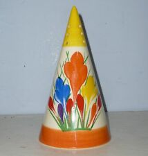 Art Deco CROCUS Conical Sugar Sifter - Clarice Cliff by MOORLAND