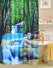FRESH FOREST  FABRIC SHOWER CURTAIN