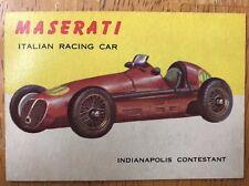 Vintage 1954 Topps World of Wheels Maserati #11 Automobile Trading Card