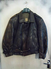 "RARE WW2 SWEDISH HORSEHIDE LEATHER FLYING JACKET SIZE 40"" BLANKET LINED"