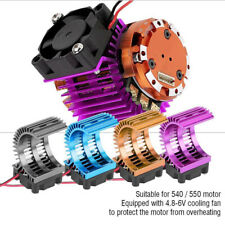 RC Car Model Heat Sink with Cooling Fan for HSP 1/10 540/550/3650 Motor Accs
