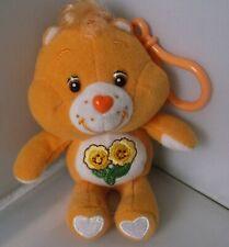 "ORIGINAL, VINTAGE, 2003,  KEYCHAIN, PLUSH CARE BEAR 'FRIEND BEAR'  5"" GOLD"