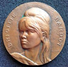 Brigitte Bardot 1966 dated Bronze Medal 41 mm by C. Lesot hallmarked