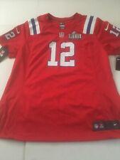Authentic Nike Red Alternative Red Tom Brady Patriots Women's XL On Field Jersey