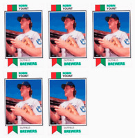 (5) 1993 SCD #41 Robin Yount Baseball Card Lot Milwaukee Brewers
