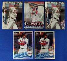 🔥Ronald Acuna Jr 🔥(5) Card Investment LOT 85 Chrome & Power Producers Braves