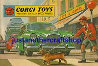 Corgi Toys 1963 Poster Catalogue Cover Large A3 Size Advert Sign Leaflet