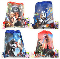 Star Wars Kids Boys Non-Woven Drawstring Bag Swimming Backpack