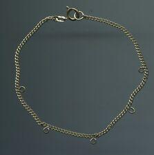 Ancien joli A.M. Double plaqué bracelet supplie Bracelet maillons Bracelet +5 œillets