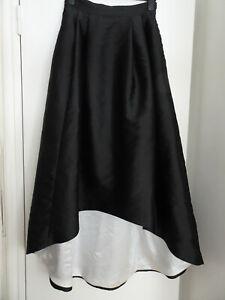 Coast Black/White mono hi/low, dip hem, long maxi skirt, black tie, wedding, 12