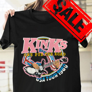 The Kinks One For The Road Tour Cotton Black Men S-3XL T-Shirt PP1392