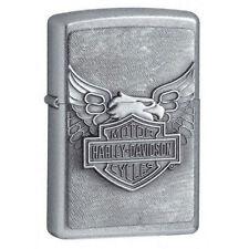Zippo 20230, Harley Davidson, Emblem, Chrome Lighter, ***6 Extra Flints/Wick***