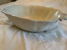 Longaberger Vintage Vine Cream Pottery Large Serving Bowl
