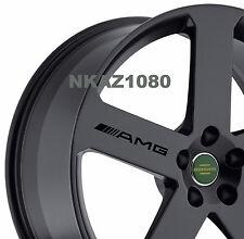 AMG Mercedes Benz Vinyl Wheels Decal Sport Racing sticker emblem Rims BLACK