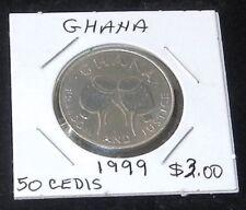 1999 BEAUTIFUL Ghana 50 Cedis Coin