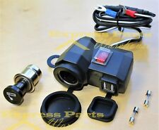 Waterproof 2USB Motorcycle Mobile Phone GPS Power Supply Port Socket Charger 12V