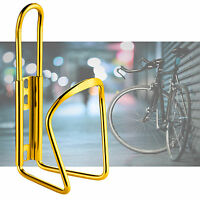 Gold-Bike Cycle Cycling Water Drink Bottle Holder Bracket Aluminium Metal Cage