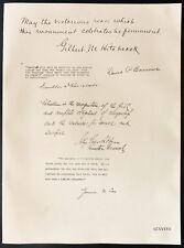 1926 - Lithographie Gibert Hitchcock, Franklin Roosevelt,  Barrows, John Grier