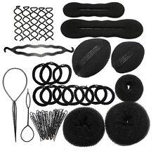 Hair Styling Accessory Magic Maker Clip Bun Hairpin Foam Pads Sponge Donut Tools
