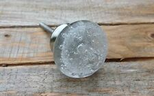 clear vintage style bubble glass dresser drawer knobs/ cabinet door pulls