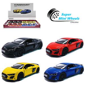 """Kinsmart 1:36 - 2020 Audi R8 Coupe - 5"""" Diecast Toy Car - 4 Colors"""