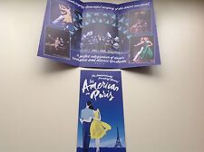 2x flyer AN AMERICAN IN PARIS Dominion Theatre