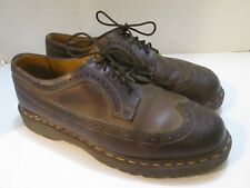 Dr. Martens brown wing tip shoes Men's size 10 Made in England