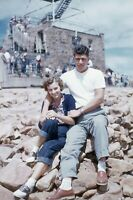 35mm Slide Vintage 1950s Young Couple Posing Colorado Red Border Kodachrome