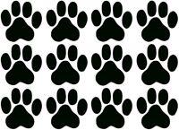 Aufkleber Katzen Hunde Pfoten Tatzen 12  Sticker  zu je 5X5cm!