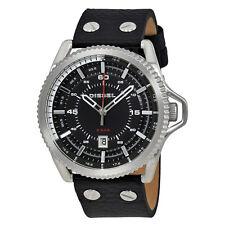 Diesel Rollcage Black Dial Mens Leather Watch DZ1790
