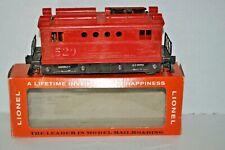 "LIONEL POSTWAR 1956-57 ""027"" # 520 RED BOX CAB ELECTRIC LOCO O GAUGE REPRO OB"