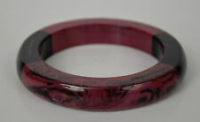 Marc by Marc Jacobs Resin Block Bangle Cuff Bracelet Black Purple New