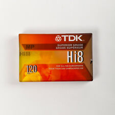 TDK Hi 8 MP 120 Camcorder Tape Superior Grade. New. SEALED!