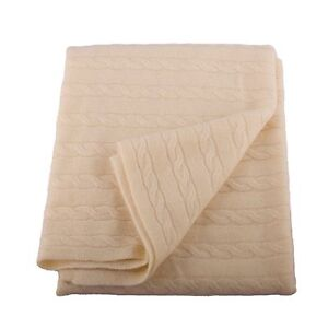 Angel Cashmere Cream Baby Blanket. Boxed for Gifting