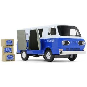 First Gear 40-0394 Ford Econoline Van Ford Tractor Parts Blue Die-cast 1/25 MIB