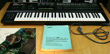 YAMAHA DX7IID Classic Synthesizer 1987   Checked, New Battery, Manual   DX7 II D