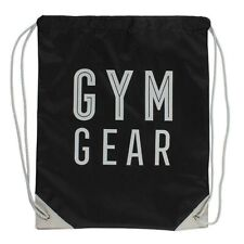 Gym Gear  black Drawstring Bag