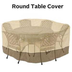 "Garden Patio Round Cover Waterproof Dustproof 94"" Table Chair Furniture Outdoor"
