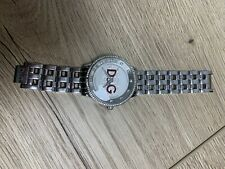 D&G Ladies Stainless Steel And Diamante Watch
