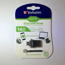 Verbatim VTM99138 Store 'n' Go Dual USB Flash Drive for OTG Devices 16GB