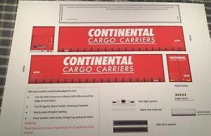1/76 Continental Cargo Carriers adhesive decals, Oxford Diecast trailer, Code 3