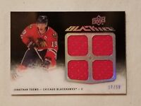 Jonathan Toews 2009-10 Black Ice Quad Jersey Chicago Blackhawks Serial # 37/50