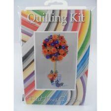 COMPLETE Quilling Kit con Strumento + carta + istruzioni di un ALBERO AUTUNNO KD 14