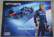 2015 Tony Kanaan NTT Data Chevy Dallara Indy Car postcard