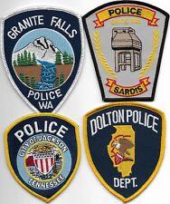 SET Nr.18:  4 Stück USA  Police Patch WA MS IL TN  Polizei Abzeichen je 10-12 cm