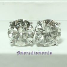 10.04 ct EGL H SI2 natural genuine round brilliant diamond studs earrings gold