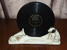 RCA VICTOR Record Holder Nipper Dog Phonograph Radio Statue Art Deco