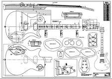 PRS SC245 Zeichnung M1:1 - f. Tonholz w.b. Paul Reed Smith / Yamaha ESP Huber
